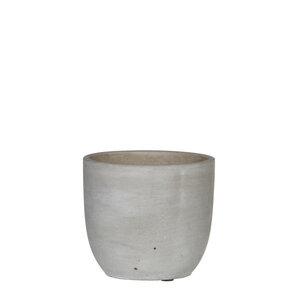 Cliff Pot Round Beige
