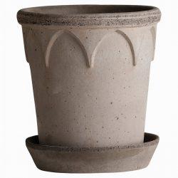 Elizabeth Grey Pot And Saucer
