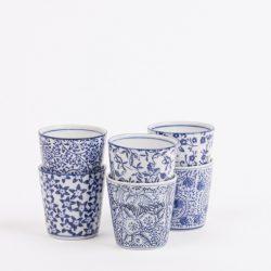 Blue Cup Ceramic Pots – Assorted