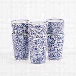 Large Blue Ceramic Cup