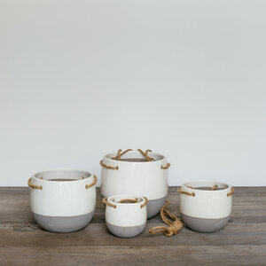 Resa Hanging Pot Round White