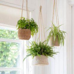 Hanging Plant Pot Short – Sea Grass