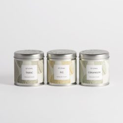 St. Eval Scented Tin Candle – Geranium (Garden of Eden Coll)