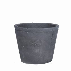 Grey Terracotta Pot Round