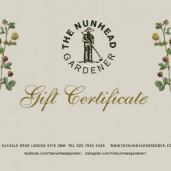 The Nunhead Gardener Gift Voucher