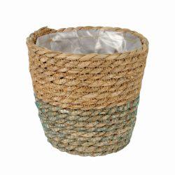 Basket: Osaka straw white ¯19x17cm