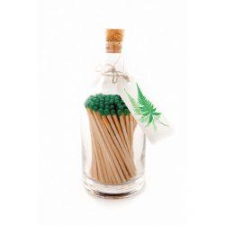 Fern glass bottle matches