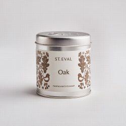 St. Eval Scented Tin Candle – Tin Folk Oak