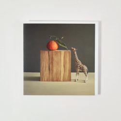 Giraffe with Nectarine – Geeting card