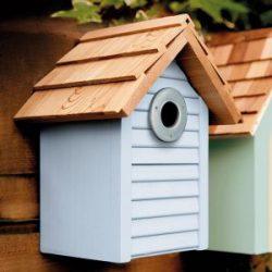 Beach Hut Nest Box Creamy Blue