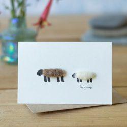 Mini Brown & White Sheep