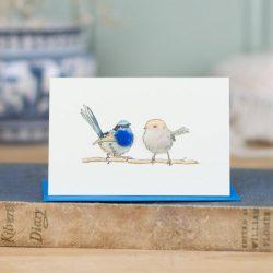 Mini Bird 13, Blue Wrens